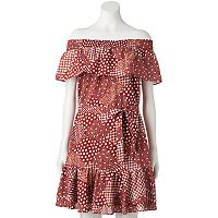Women's LC Lauren Conrad Print Off-the-Shoulder Shift Dress