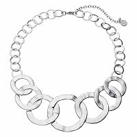 Dana Buchman Hammered Circle Link Statement Necklace