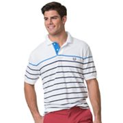 Big & Tall Chaps Classic-Fit Striped Stretch Pique Polo