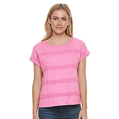 Women's SONOMA Goods for Life™ Crochet Stripe Tee