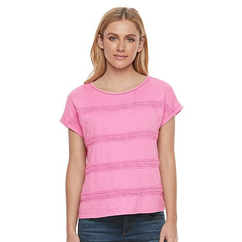 Women's SONOMA Goods for Life™ Crochet Stripe Tee