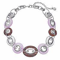 Dana Buchman Oval & Circle Link Chunky Necklace