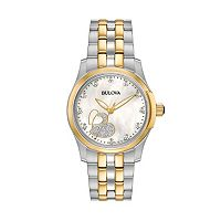 Bulova Women's Diamond Heart Two Tone Stainless Steel Watch - 98P152