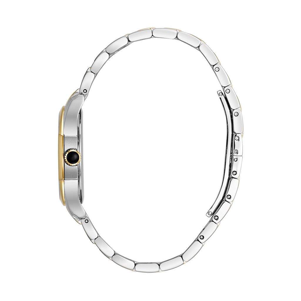 Bulova Women's Diamond Heart Two Tone Stainless Steel Watch - 98P152