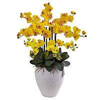 nearly natural Phalaenopsis Orchid Silk Artificial Floral Arrangement
