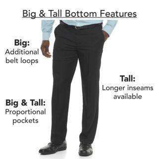 Big & Tall Chaps Classic-Fit Oxford Flat-Front Shorts