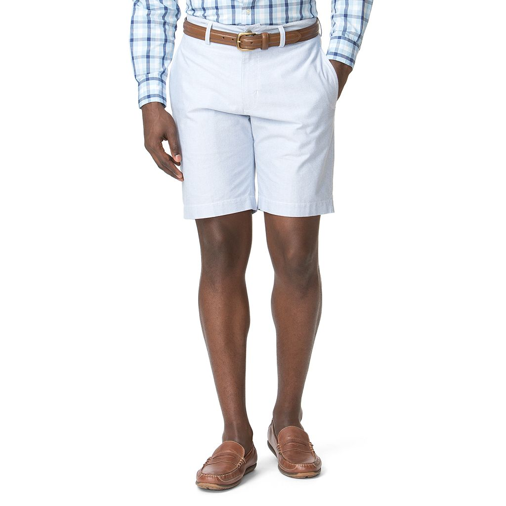 Big & Tall Chaps Classic-Fit Oxford Flat-Front Shorts