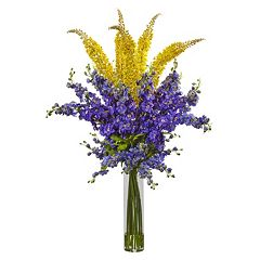 nearly natural Delphinium & Foxtail Silk Artificial Floral Arrangement