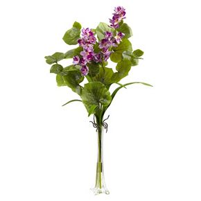 nearly natural Lotus & Orchid Silk Artificial Floral Arrangement