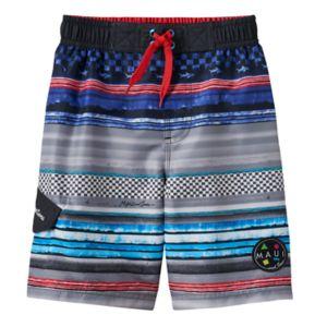 Boys 4-7 Maui & Sons Race Stripe Swim Trunks