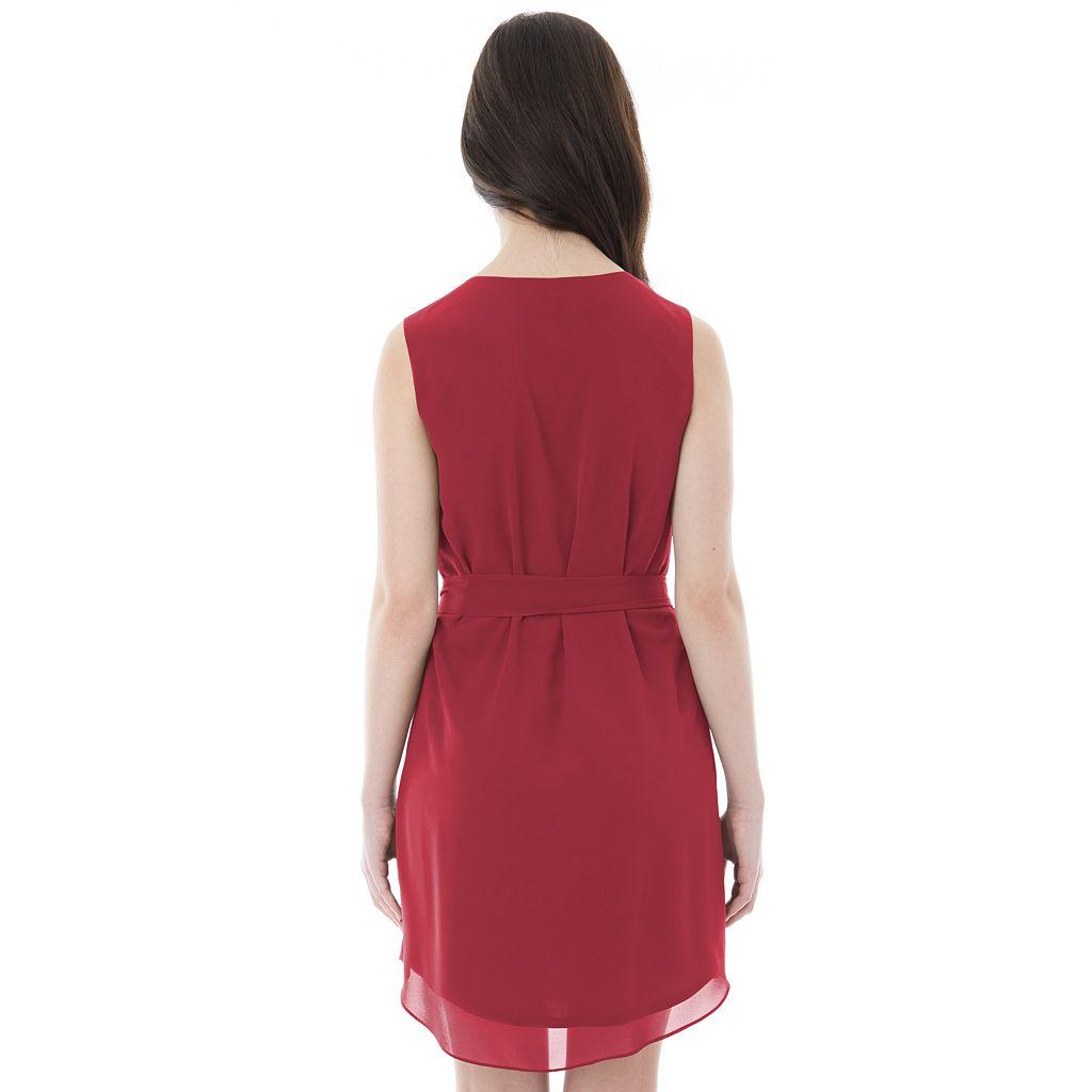 Juniors' IZ Byer California Solid Lace-Up Dress