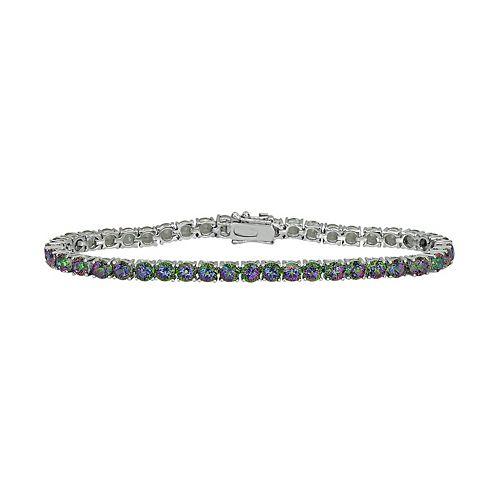 Sterling Silver Mystic Fire Topaz Bracelet