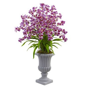 nearly natural Giant Blooming Orchid Silk Artificial Floral Arrangement