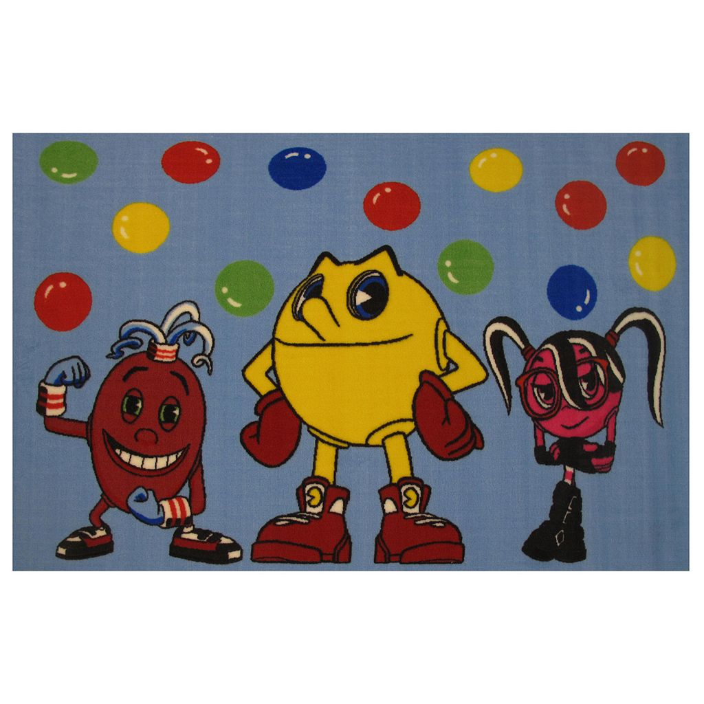 Fun Rugs Pac-Man Pac & Friends Rug - 3'3'' x 4'10''