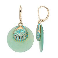 Dana Buchman Aqua Seashell Drop Earrings