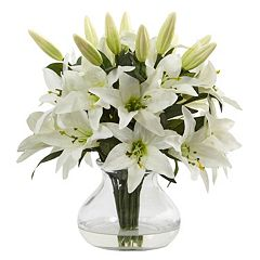 nearly natural Lily Silk Artificial Floral Arrangement