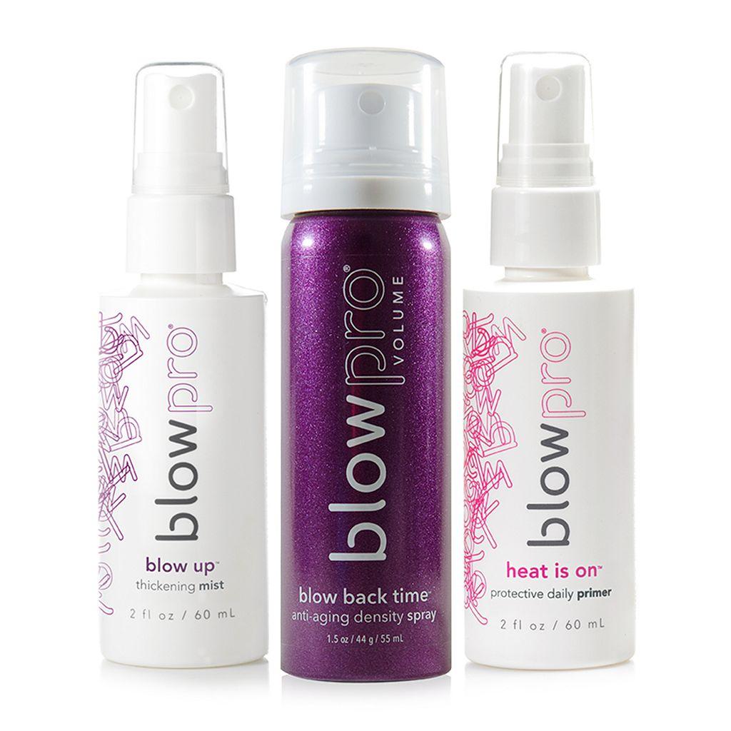 blowpro Titanium Flat Iron & Travel Hair Products Smoothing Kit Set