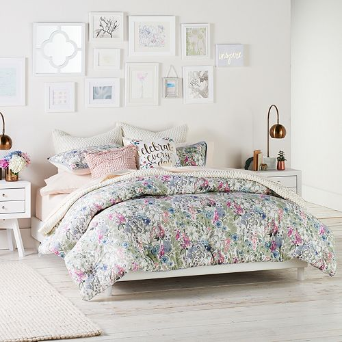 Lc Lauren Conrad Wildflower Duvet Cover Set