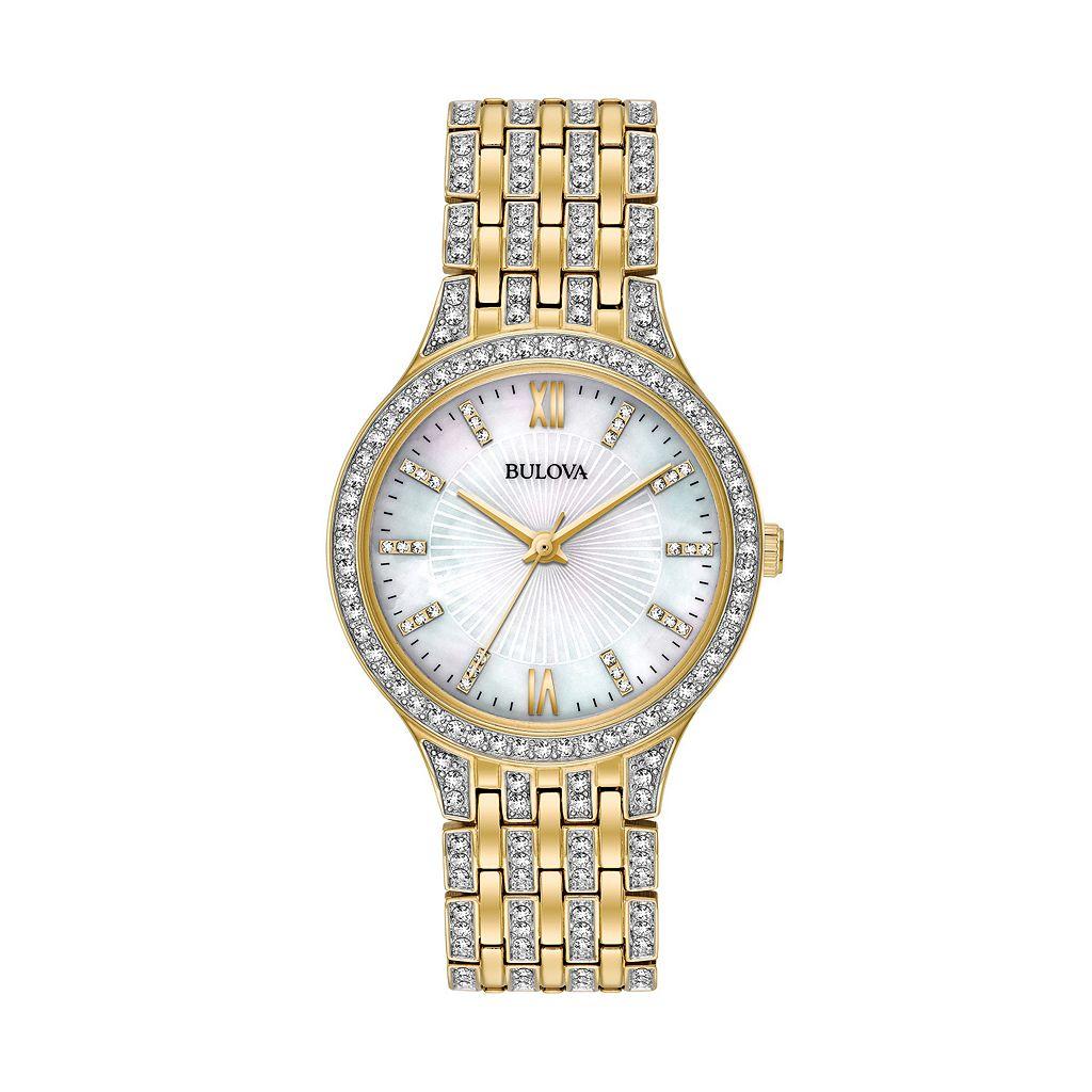 Bulova Women's Crystal Stainless Steel Watch - 98L234