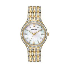 Bulova Women's Crystal Stainless Steel Watch - 98L234