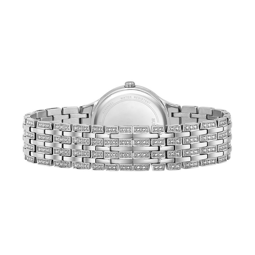 Bulova Women's Crystal Stainless Steel Watch - 96L243