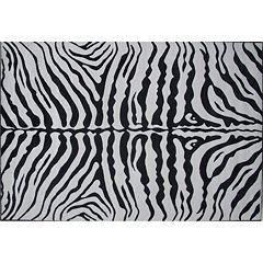 Fun Rugs Supreme Zebra Skin Print Rug - 8' x 11'