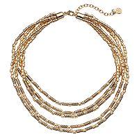 Dana Buchman Swirling Tube Bead Multi Strand Necklace