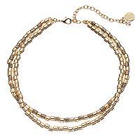 Dana Buchman Tube Bead Double Strand Choker Necklace