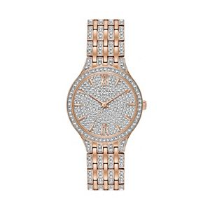 Bulova Women's Crystal Stainless Steel Watch - 98L235