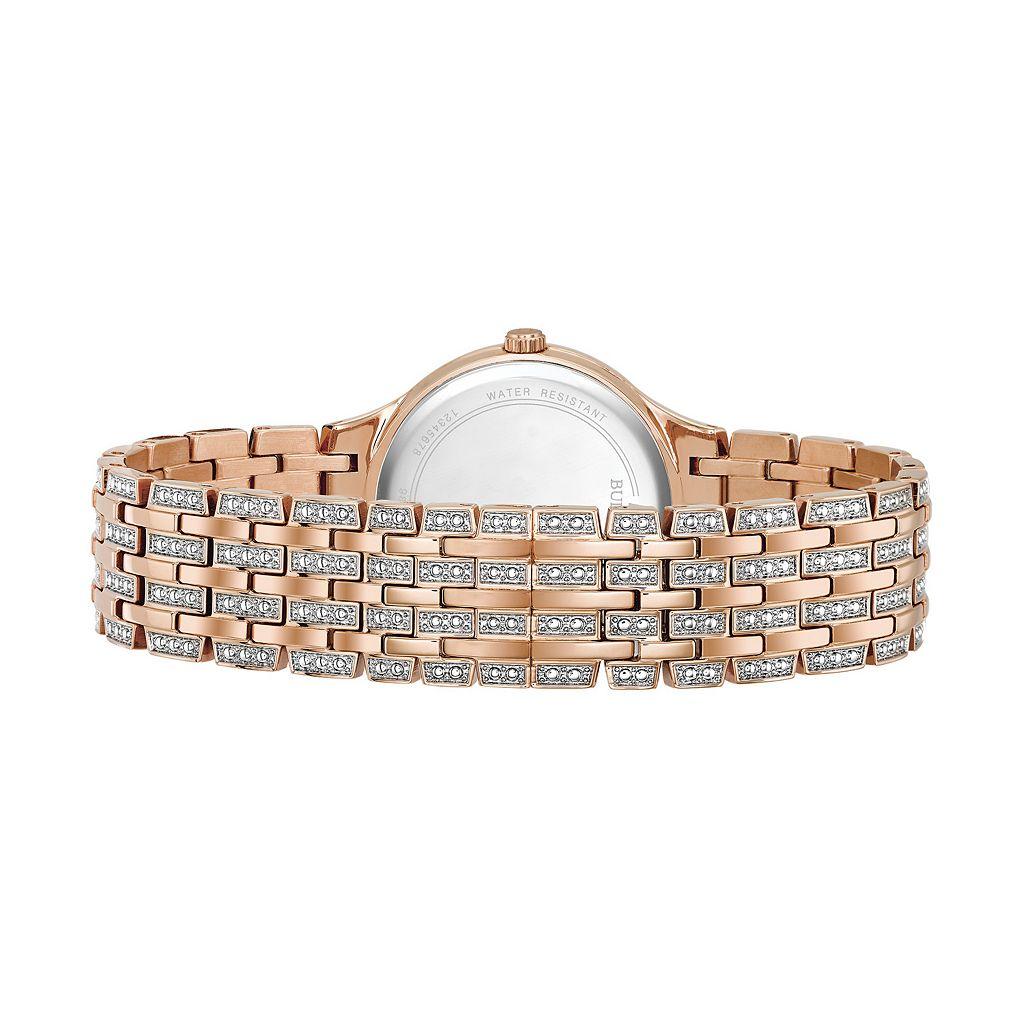 Bulova Women's Crystal Stainless Steel Watch - 98L235
