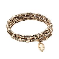 Dana Buchman Textured Tube Bead Coil Bracelet
