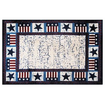 Fun Rugs Supreme Stars & Flags Rug - 3'3'' x 4'10''