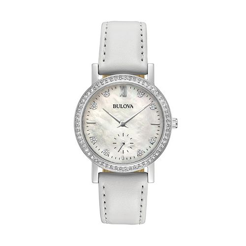 Bulova Women's Crystal Leather Watch - 96L245