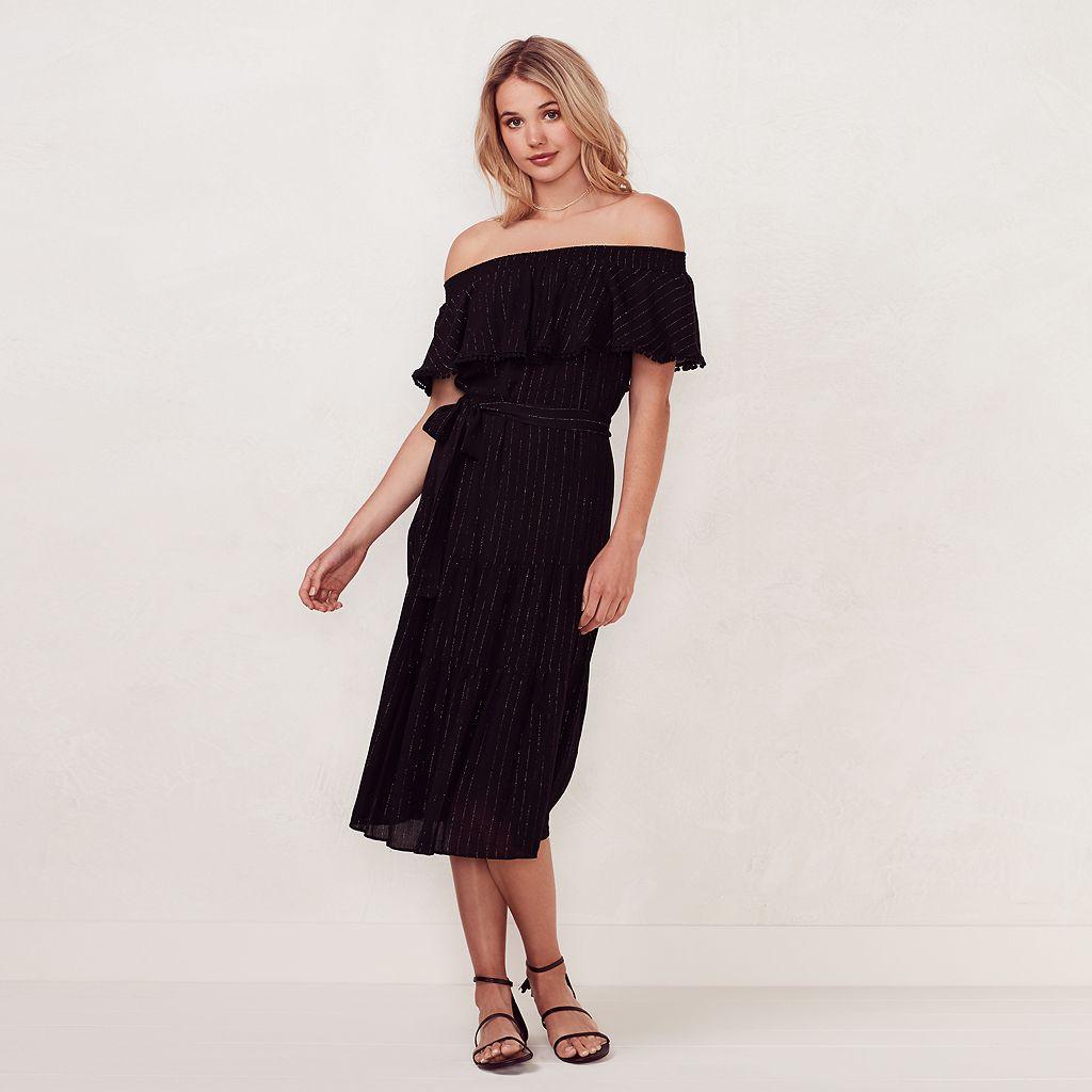 Women's LC Lauren Conrad Beach Shop Off-the-Shoulder Midi Dress