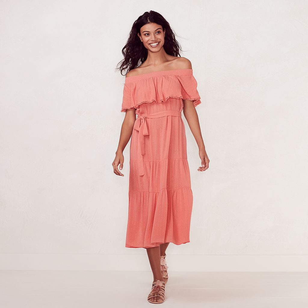 Women's LC Lauren Conrad Beach Shop Off-the-Shoulder Midi Dress