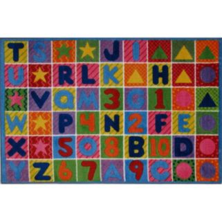 Fun Rugs Supreme Numbers & Letters Rug - 2' x 3'