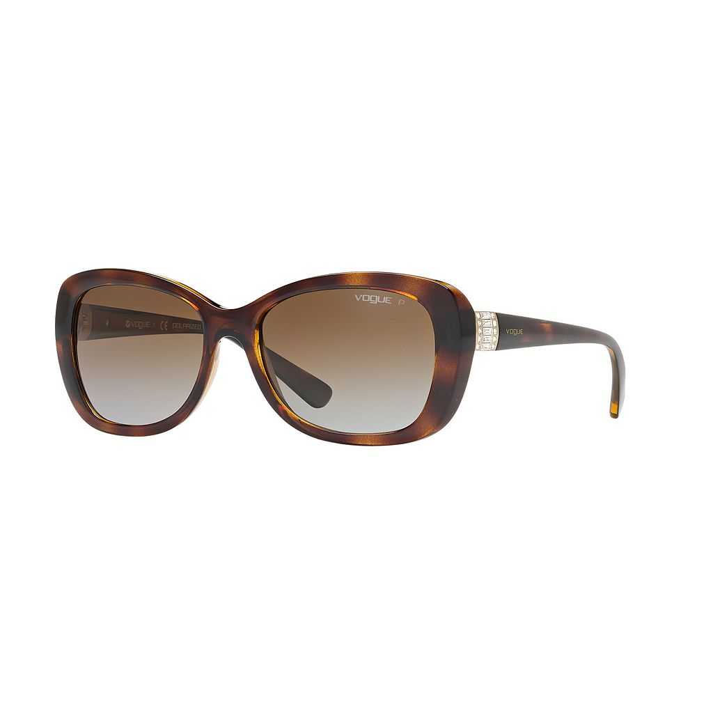 Vogue Timeless VO2943S 55mm Butterfly Gradient Polarized Sunglasses with Swarovski Elements