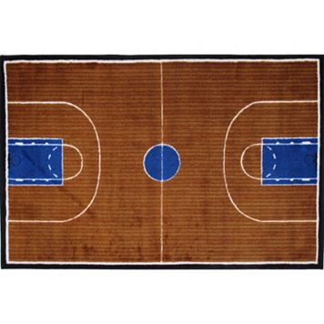 Fun Rugs Supreme Basketball Court Rug - 2'7'' x 3'11''