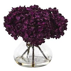 nearly natural 8.5-in. Hydrangea Artificial Silk Floral Arrangement