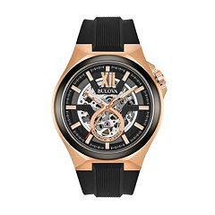 Bulova Men's Two Tone Automatic Skeleton Watch - 98A177