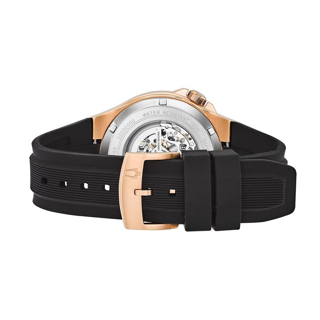 Bulova Men's Two Tone Automatic Skeleton Watch - 98A177
