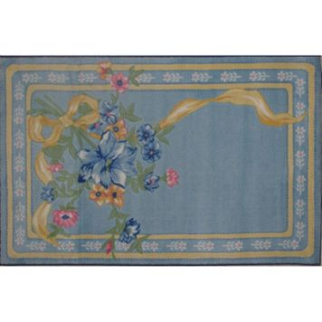 Fun Rugs Supreme Flower Ribbon Framed Rug - 3'3'' x 4'10''