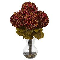 nearly natural 18-in. Hydrangea Silk Flower Artificial Floral Arrangement