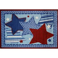 Fun Rugs Supreme Denim Dreams Framed Rug - 3'3'' x 4'10''