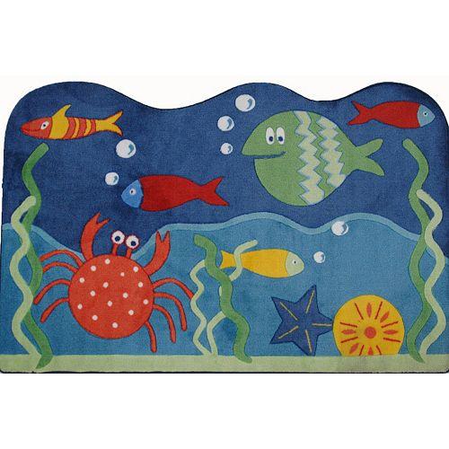 Fun Rugs Supreme Underworld Ocean Rug - 3'3'' x 4'10''
