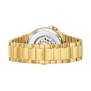 Bulova Men's Stainless Steel Automatic Skeleton Watch