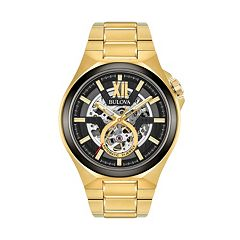 Bulova Men's Stainless Steel Automatic Skeleton Watch