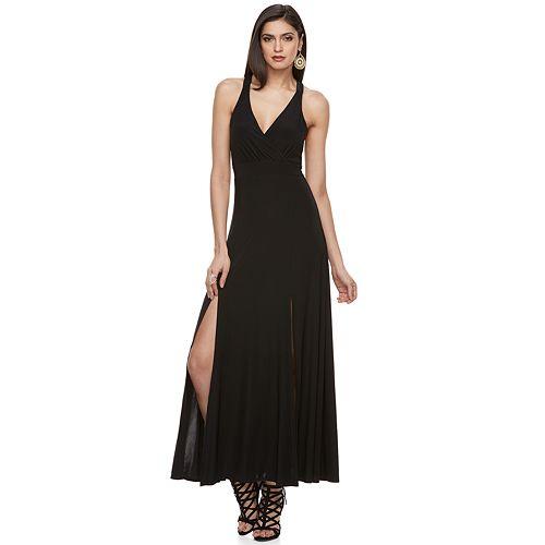 Womens Jennifer Lopez Racerback Maxi Dress