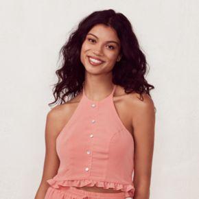 Women's LC Lauren Conrad Beach Shop Halter Crop Top