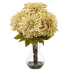 nearly natural Dahlia Silk Artificial Floral Arrangement